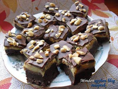 Receptek, és hasznos cikkek oldala: Snickers sütemény (Karamellás szelet sűrített tejjel)