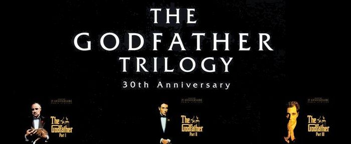 The Godfather Trilogy:  Marlon Brando, Al Pacino and one of the all time best ensemble casts