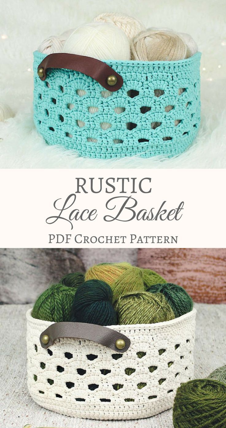 This is really beautiful! I LOVE the pattern and it's a great size basket. #crafts #crochet #yarn #projects #pattern #baskets #storage #organization #etsy #affiliate