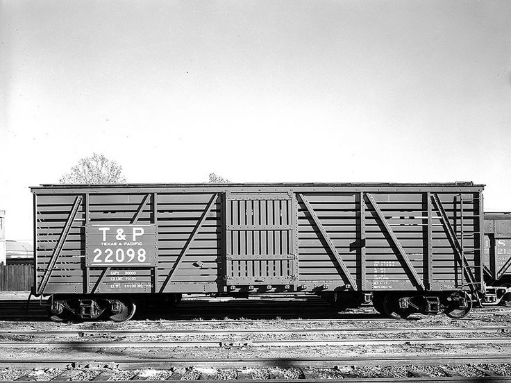 Single Door Freight Car 22098, Texas & Pacific Railway Company ... Pacific Railway Company