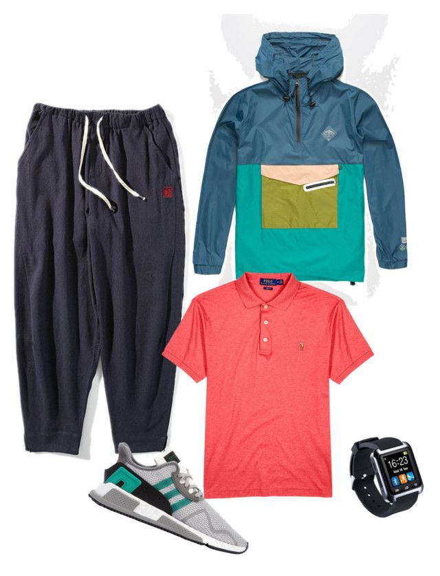 """Спортивный стиль"" by luda-minyeva on Polyvore featuring All Good, Polo Ralph Lauren, adidas Originals, men's fashion и menswear"