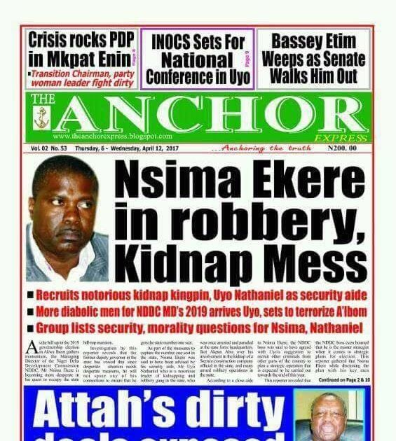 By Gideon Ekere Call it a blackmail or 'darkmail' it's for attack. Mostly in politics. Whether on the pages of newspaper or orally. It brings ones reputation down. And such a fellow hardly rise again. Then demolishes his/her height. whether in business education politics or others. But I would possibly throw a question. Why now? Why the aides of the governor the carriers? Is Udom Emmanuel not aware that his aides are toeing wrong lanes? Leaving their duty posts to blackmail castigate others…