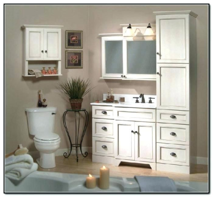 Matching Bathroom Vanity And Linen Cabinet - Bathroom ...