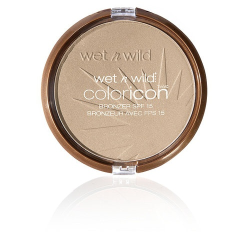 Wet n Wild Color Icon SPF 15 Bronzer, Reserve Your Cabana. Surprisingly nice finish, use for highlighter or lightly as a finishing powder