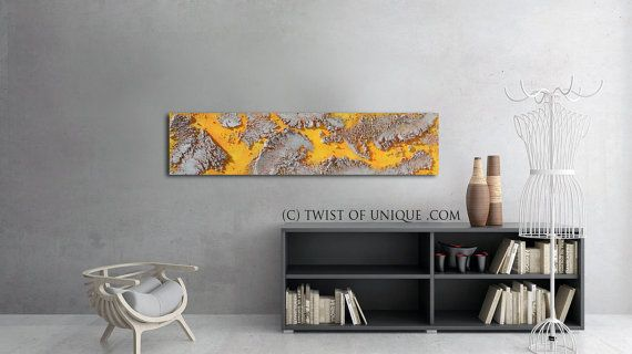 Large concrete Painting / ORIGINAL Abstract by TwistOfUnique
