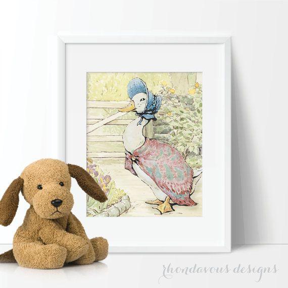 Baby Nursery Art - Peter Rabbit Nursery Art - Peter Rabbit Nursery Decor - Peter…