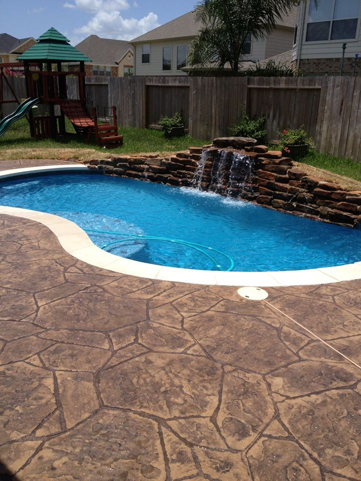 Silva Swimming Pool Katy Texas Pool Builder Sahara Pools Katy Tx Pool Pool Builders Texas Pools