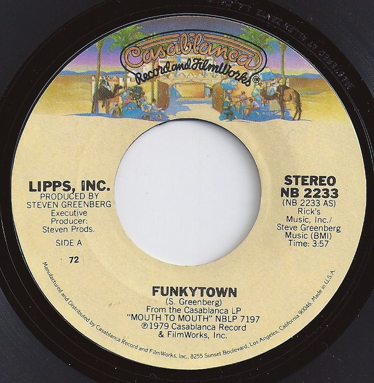 Funkytown / Lipps, Inc. / #1 on Billboard 1980