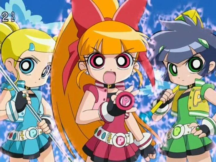 Powerpuff Girls Blossom Shy: Anime Powerpuff Girls