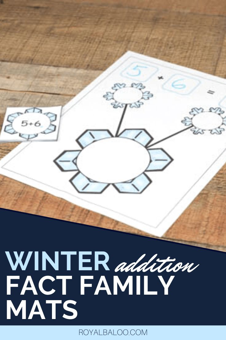 Winter Themed Mats for Fact Families and Addition