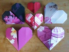 Sweet hearts. Origami hearts a lovely idea. How to make them? Follow the link to the article Wizzley.