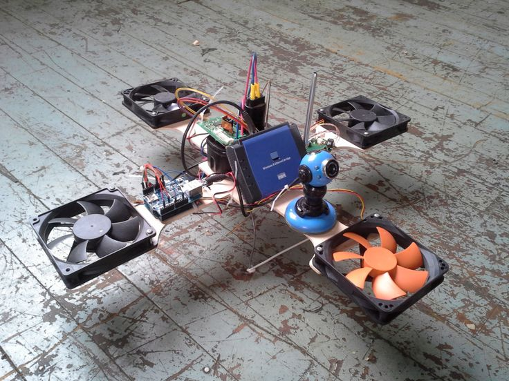 quad-copter made from e-waste