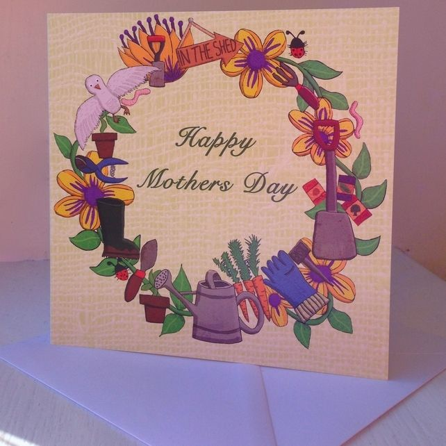 Gardening Mothers day card £2.00