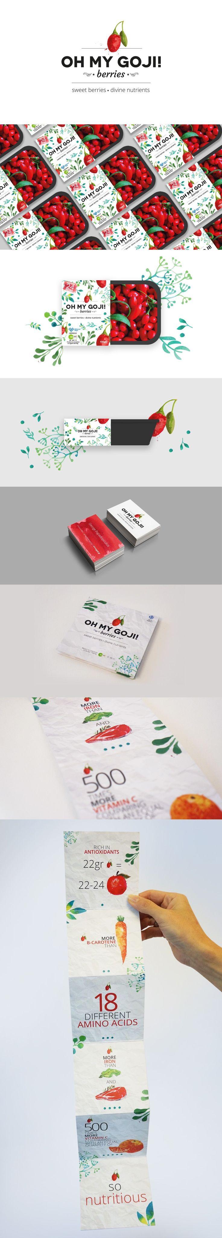 Δημιουργήσαμε για μια εταιρία παραγωγής, διάθεσης και εξαγωγής goji berries τη συνολική εικόνα της οπτικής του επικοινωνίας. Σκεφτήκαμε το όνομα του προϊόντος, σχεδιάσαμε το λογότυπο, τη συσκευασία, την εταιρική ταυτότητα και τα διαφημιστικά έντυπα. Brand naming, logo design, packaging design, art direction:Media designers