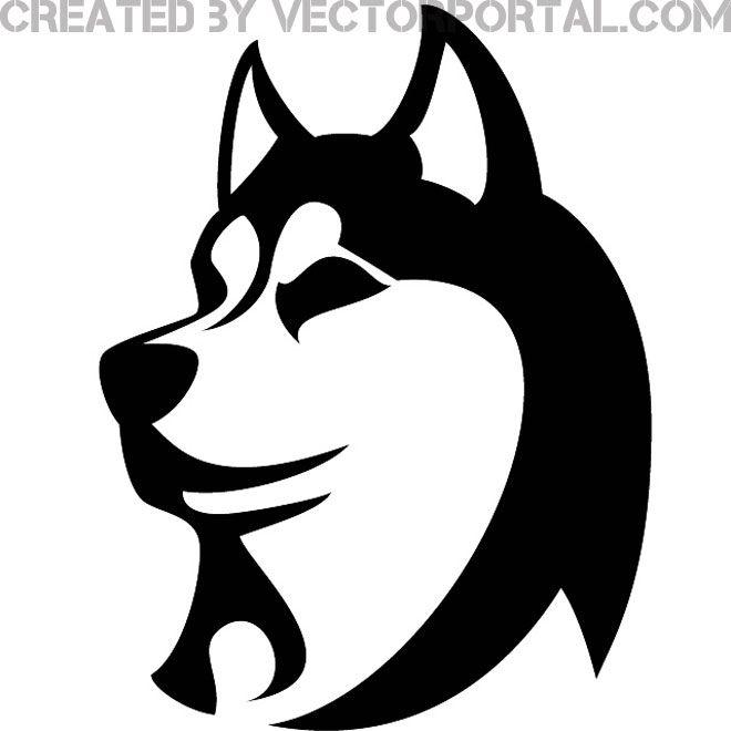 Husky dog vector image sketch dogs stencils
