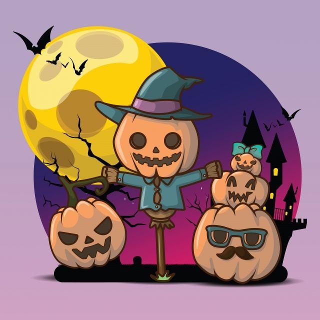 35+ Animated Halloween Night Clipart