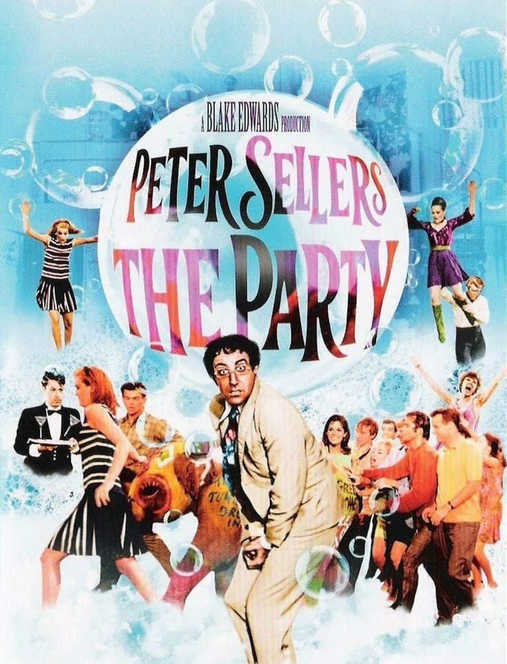 """""""The Party"""" - Peter Sellers - movie poster / ad - 1968."""