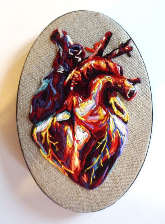 Julie Sarloutte - one of 5 color variations of the human heart.