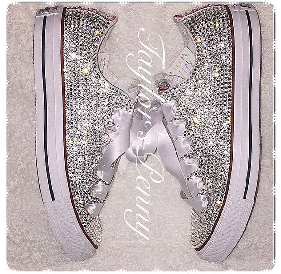 Women's Converse Embellished with Swarovski/ by TaylorsPenny