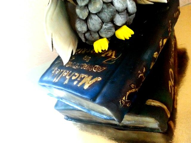 Cake#owl#book#birthday#chocolate#caramel#Czech#miss.enemy