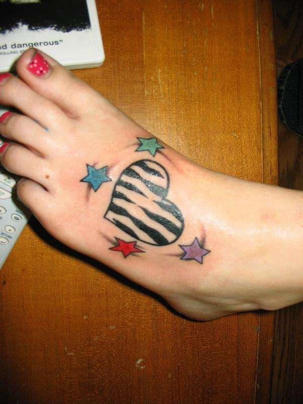 zebra heart tattoo