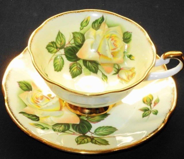 Rosina ENGLISH Creamsicle ROSE Roses Tea cup and saucer Teacup