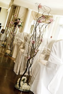 Sticks Flowers Tree Wedding Safari Chic Wedding