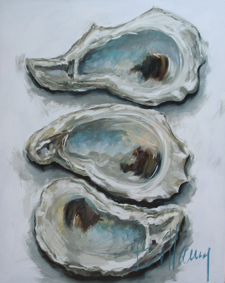 Oyster Painting. Love love love this artist!!
