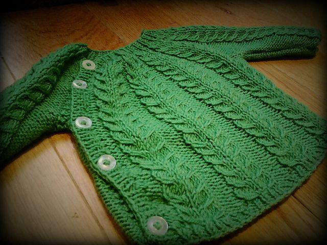 Ravelry: Small Cable Cardigan pattern by Vibe Ulrik Sondergaard, unusual but Simple, love it, Free Patt.