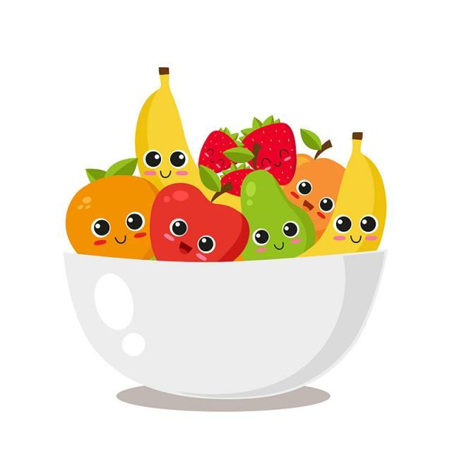 Fruit Platter With Cute Fruits Food Cartoon Healthy Png And Vector With Transparent Background For Free Download Cute Fruit Fruit Clipart Cute Food