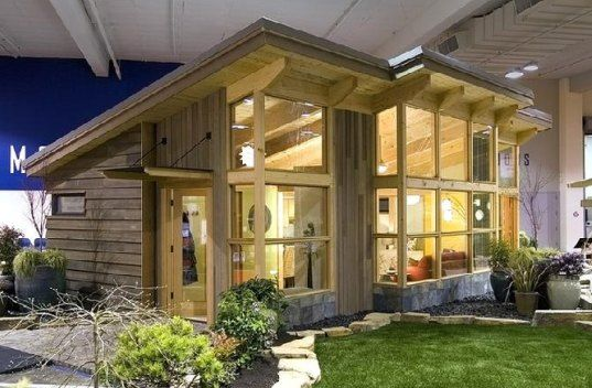 The FabCab, or fabulous cabin... prefabricated with eco-friendly materials... so I can be a tree hugger AND have a cabin. Yes, please! Love this house!