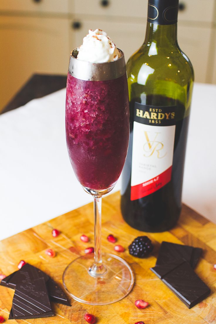 The naughty but nice red wine cocktail recipe with chocolate! WOW I NEED TO TRY ALL OF THESE!!!!