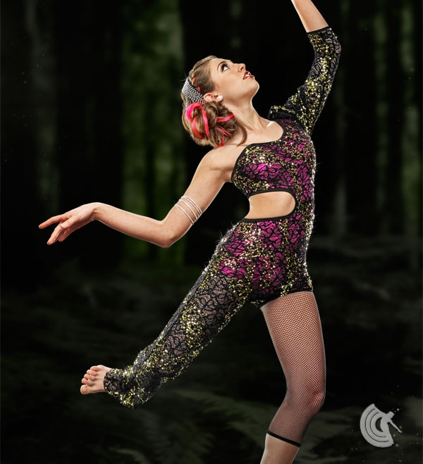 Curtain Call Costumes®   Exotic Tale Sequin Lace And Mystique Nylon/spandex  Asymmetrical Jumpsuit