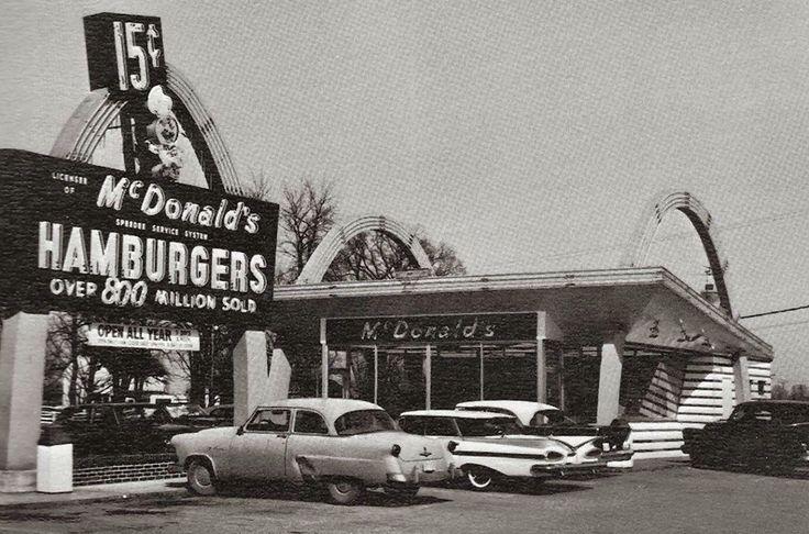 Parking lot McDonalds 1950's