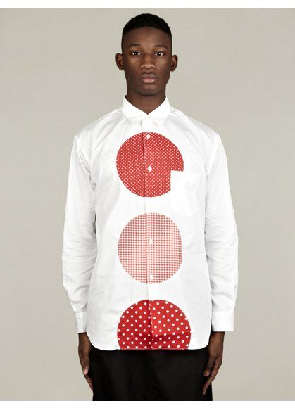COMME des GARCONS SHIRT Men's Spot Pannel Cotton Shirt