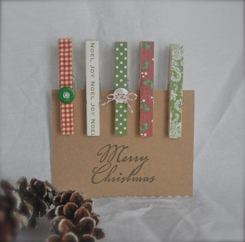 Christmas Gift Tag Holder Magnets and Clothespins Set | dianewdesigns - Seasonal on ArtFire