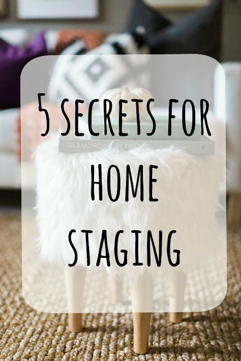 5 secrets for home staging | Update your home for a sale with these essential tips! #homestagingtips #homestaging #realtortips