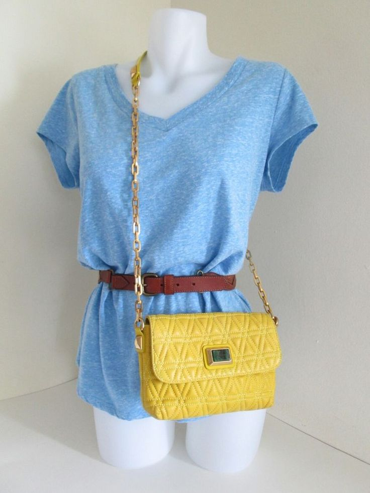 Marc by Marc Jacobs Yellow quilted Lamb Leather Shoulder Bag Purse Chain Strap   Clothing, Shoes & Accessories, Women's Handbags & Bags, Handbags & Purses   eBay!