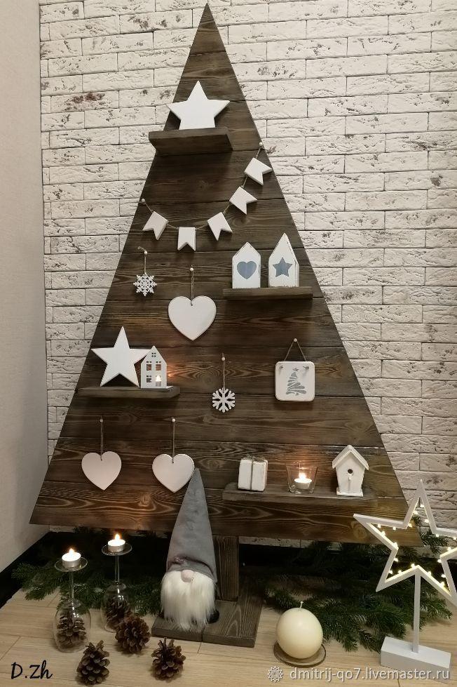 Елка деревянная 145 см,новогодняя с игрушками №1 ...