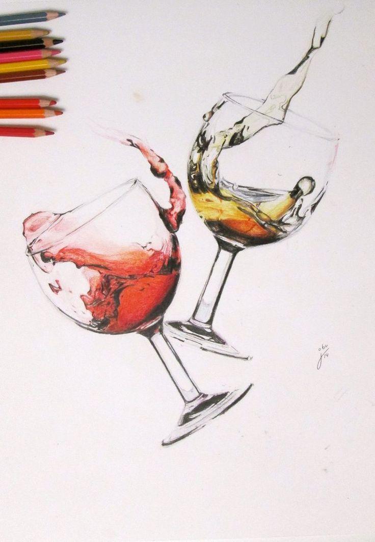 와인잔(유리•투명체) & 액체