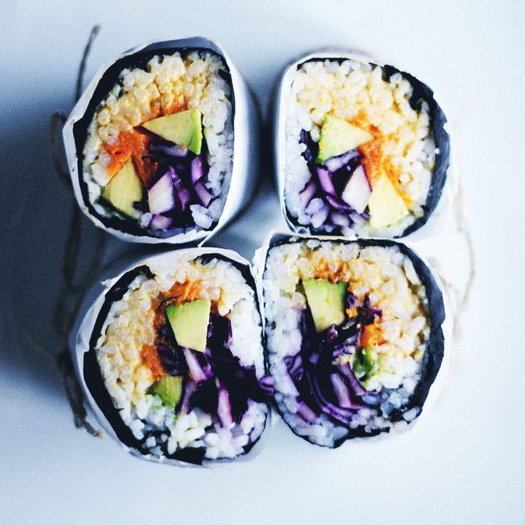 RECIPE : sushi burritos | cheap lazy vegan recipe swap | jenny mustard