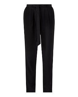 Black (Black) Black Tie Waist Formal Joggers | 323871601 | New Look