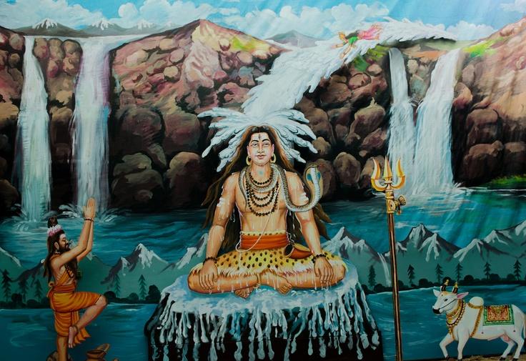 Waldorf ~ 5th grade ~ Ancient India ~ Lord Shiva and Goddess Ganga ~ main lesson book