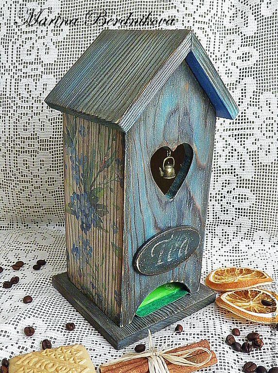 """Купить Чайный домик """"Незабудки"""" - синий, кухня, кухня кантри, чайный домик"""