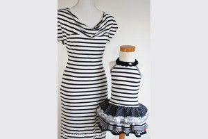 Bretonse streep jurk dames