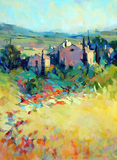 French Countryside by Trisha Adams Oil ~ 40 x 30