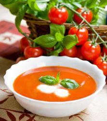 Creamy Tomato Vodka Soup - a creamy tomato soup recipe with a unique spin! #DayByDei