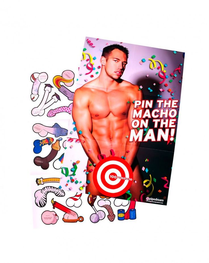 Pin The Macho On Man Bachelorette Party Game
