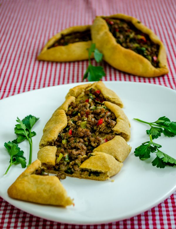 Turkish Pide with Ground Beef - Give Recipe These would be great for game day, since they are naturally football shaped!
