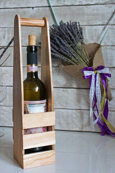 Подставка для вина из натурального дерева